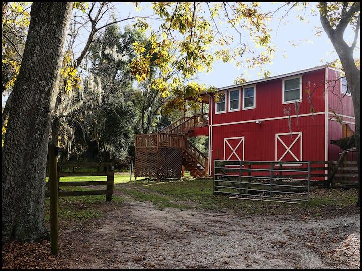 NEW Barn Cottage at Crews Lake Farm~40mi to Disney