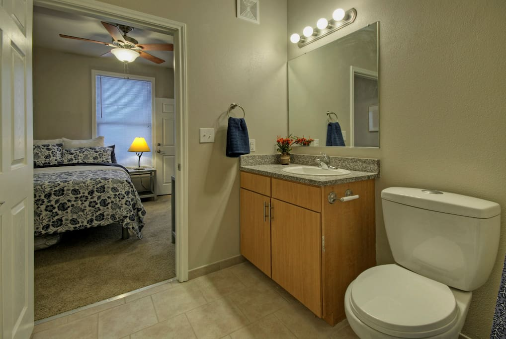Each room has its own bathroom. No sharing needed here!