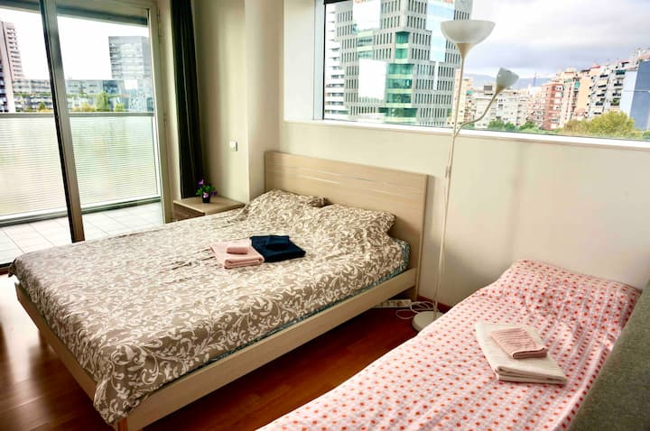 1Room for 2-3P in modern apartment,cozy&convenient