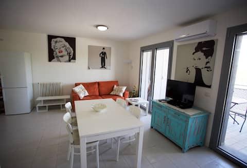 New spacious flat near the beach, private garage.