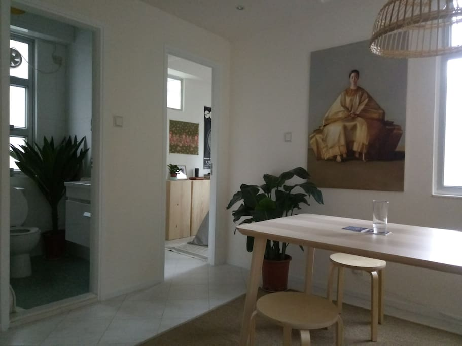 One main living/dinning space