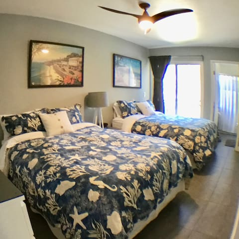 2 Full /Double Beds ,  master bathroom