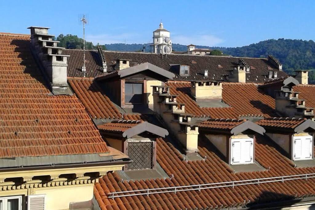 Vista tetti e Superga