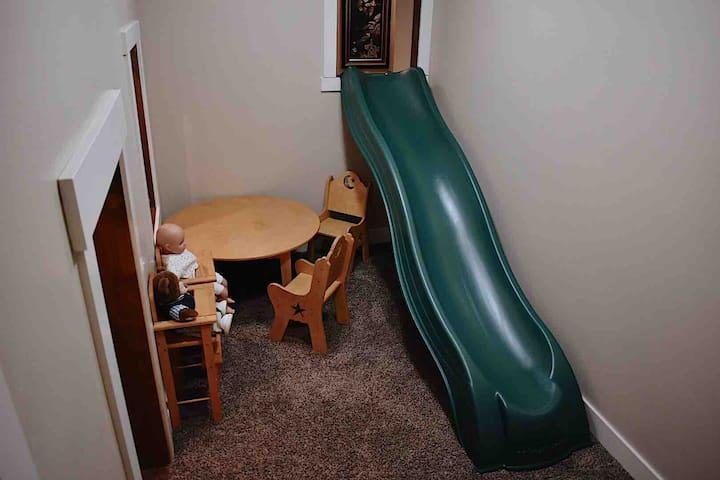 Slide in playroom