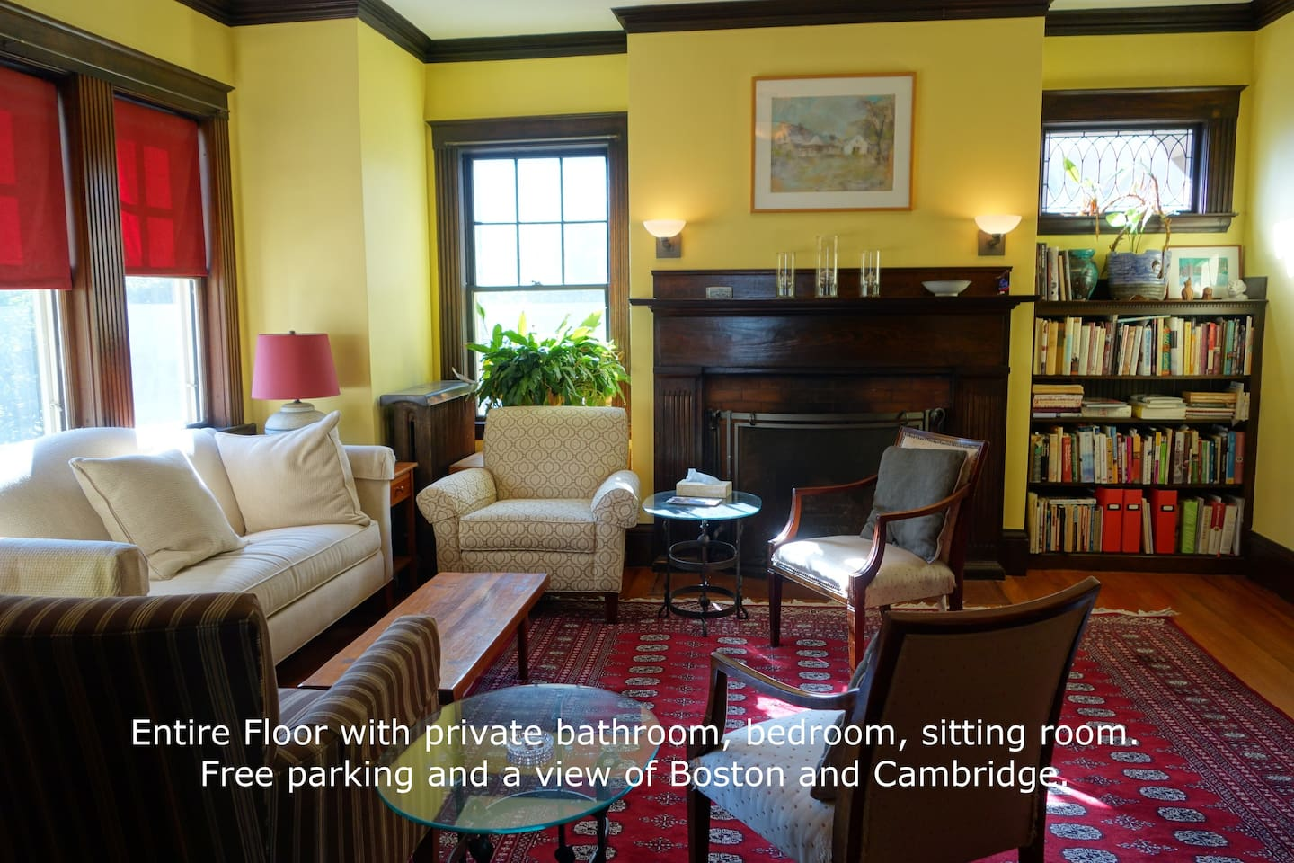 Our Living Room- A comfortable place to read a book or knit as some guests have done
