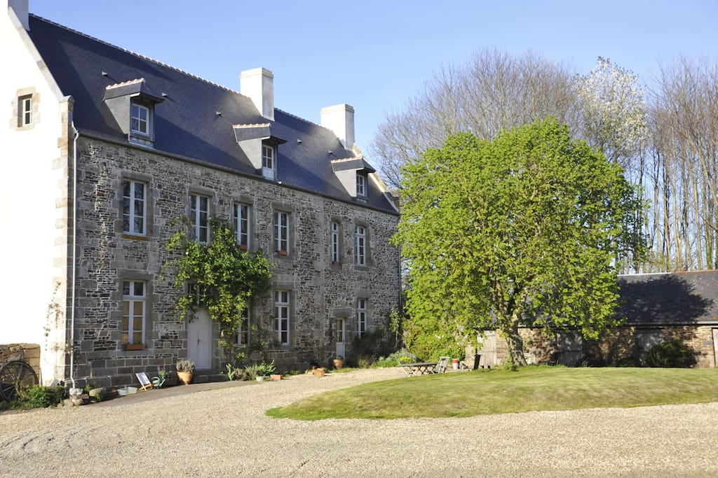 View of the Manoir from the gite.