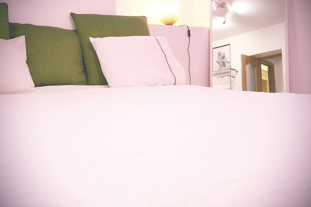 Draps en coton  / couvre-lit Cotton