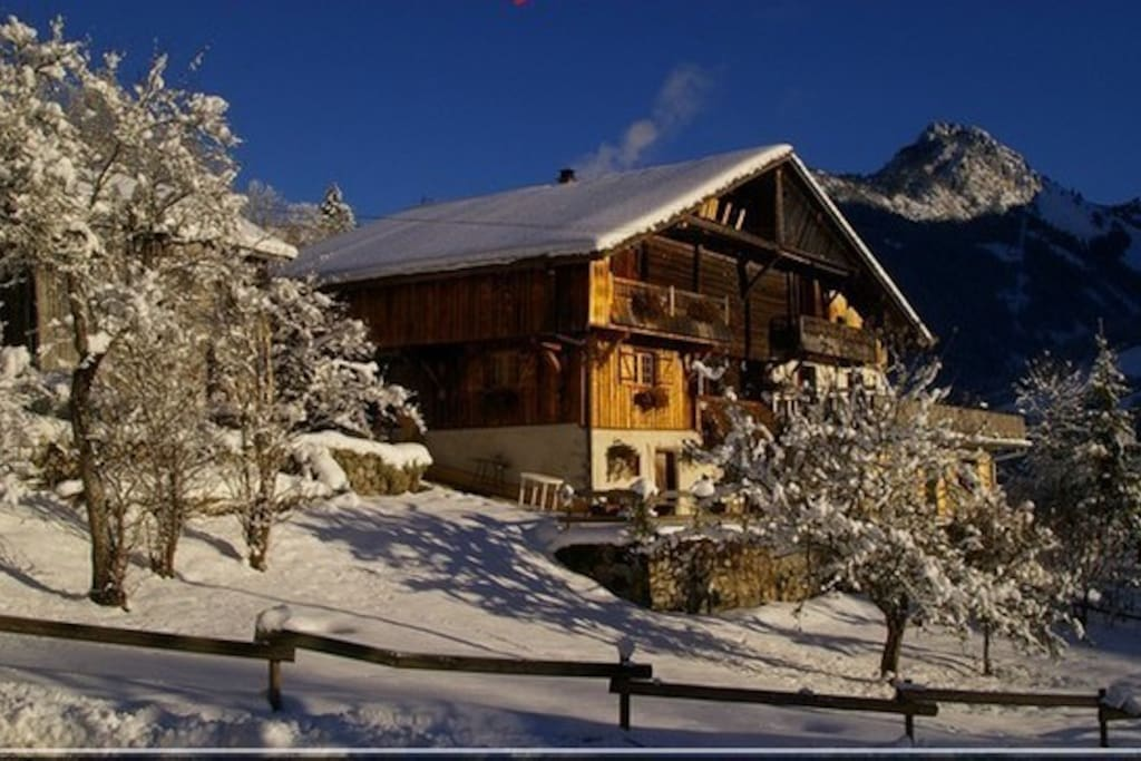 Chalet traditionnel et authentique à quelques Km des stations de ski du Grand Bornand et de La Clusaz
