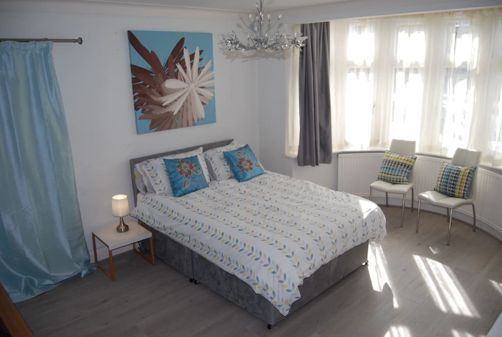 Large bright double bedroom