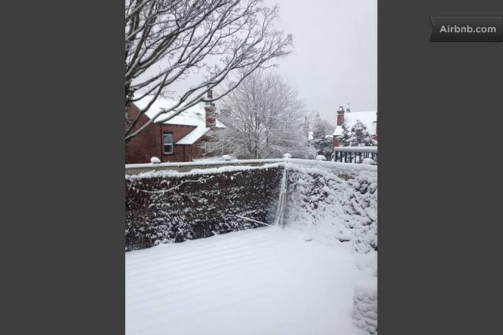 Terrace in winter....