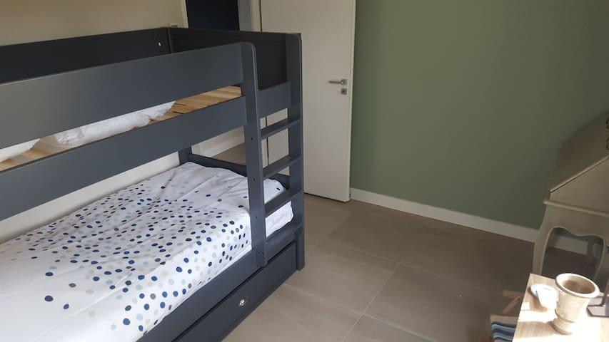 Chambre d'amis, lits superposés
