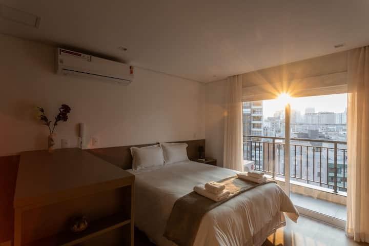 APM1309 Sublime na Bela Vista com AC e conforto