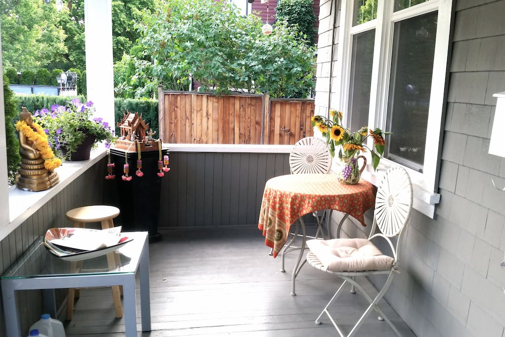 Front porch - outdoor sitting area.