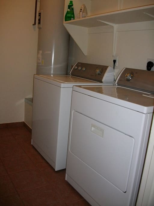 Washer and dryer in the casita.
