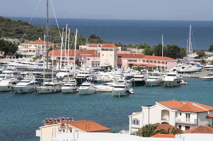 Marina Frapa with access to activities like swimming pool, tennis, sailing, diving etc