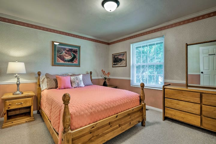 Cozy up with a loved one in this queen bed!