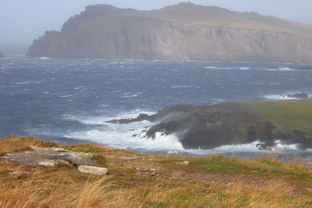 Beautiful coastline along the Slea Head Drive.