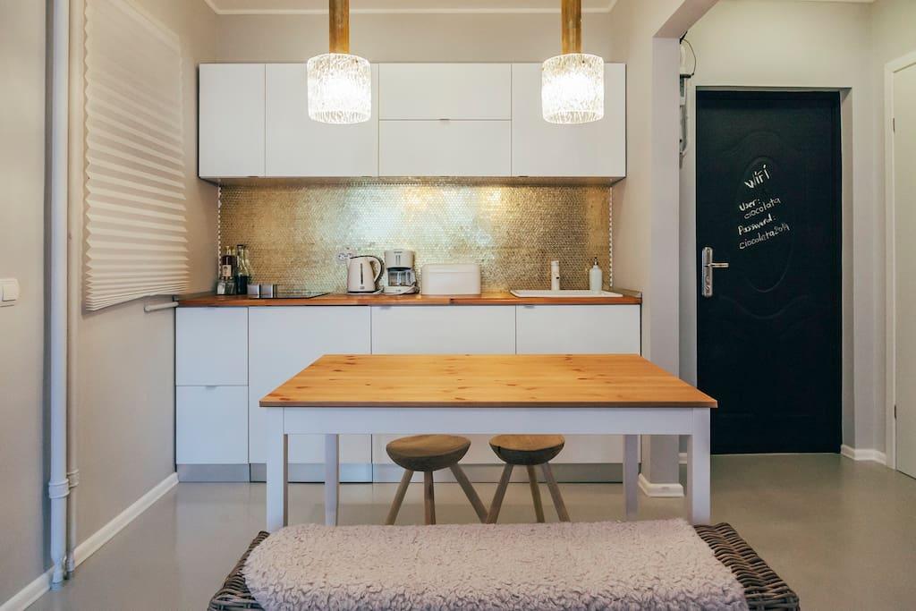 Our golden kitchen