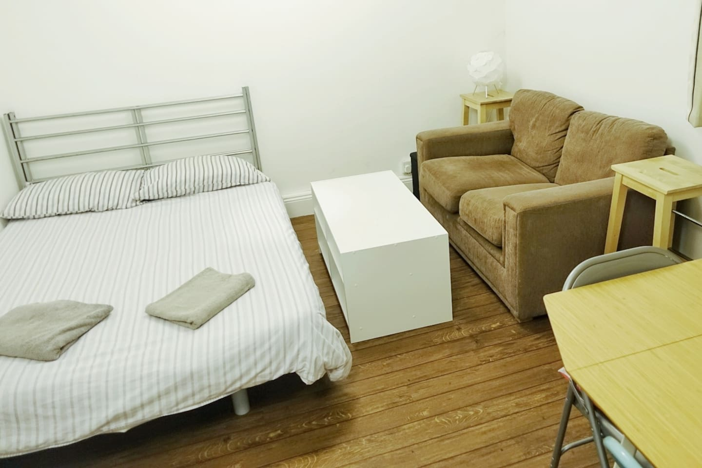 Comfortable double sofa bed and couch.