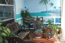 BACK PORCH WITH MURAL