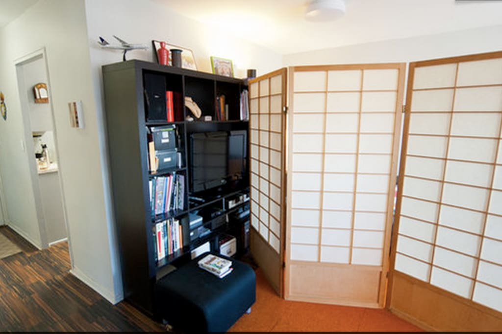 Huge room divider, real Japanese Shoji Screen to use while you sleep!