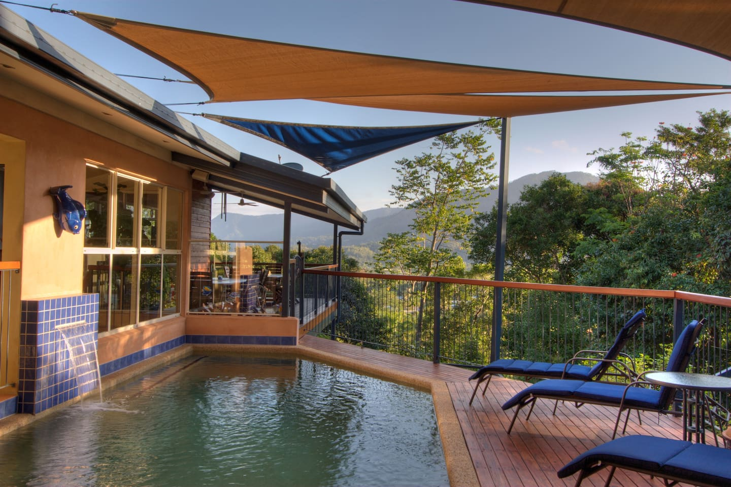 Relax by the pool; enjoy the nice and refreshing swimming pool at Kookas B&B