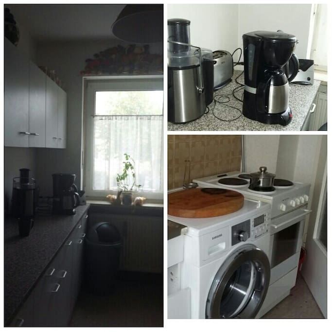 The stove, kettle, frindge and coffee machine are available to be used