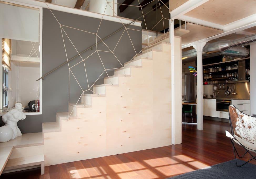 Loft in marvella beach in poble nou appartements louer - Appartement en duplex abraham architects ...