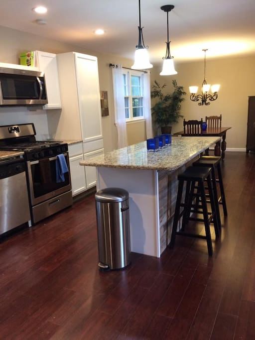 Completely remodeled kitchen with all of the amenities!  Tea, coffee, condiments and spices too!