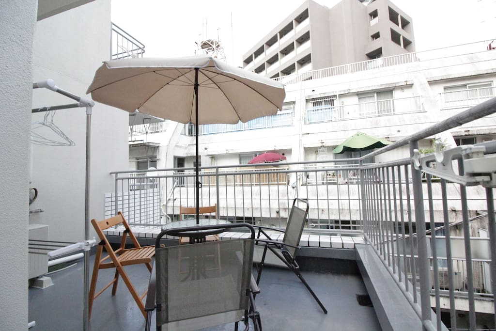 Big Roof Balcony where you can enjoy meals & beverages