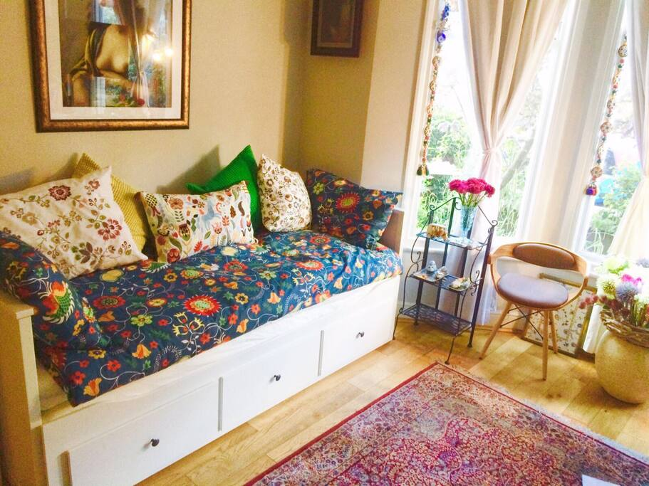 Your bed configured as a comfortable divan and single bed