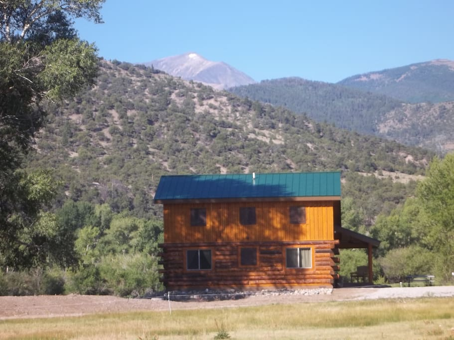 View of cabin situated on the ranch