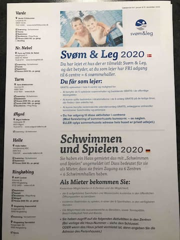 Nyt i 2020 - fri svøm & Leg / new in 2020 free access to swimming