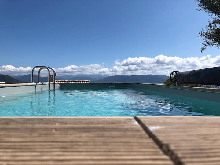 Marincelu en Corse villa Casa Alta 4* avec piscine