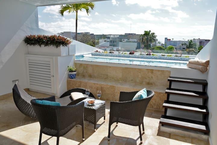 Ocean View Penthouse Studio with Private Pool CFPH - Playa del Carmen - Apartamento