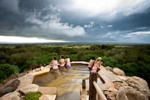 Local attraction: Peninsula Hot Springs - storm clouds.