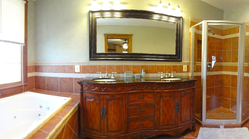 #1 Master Bath with Jucuzzi Tub - Great for Relaxing after Walking all Day seeing all of DC's Sites