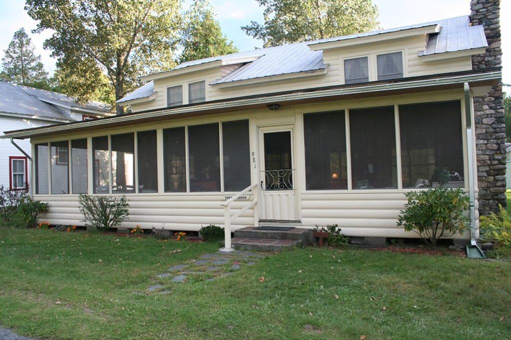 Huge open porch to enjoy the Adirondack breeze!