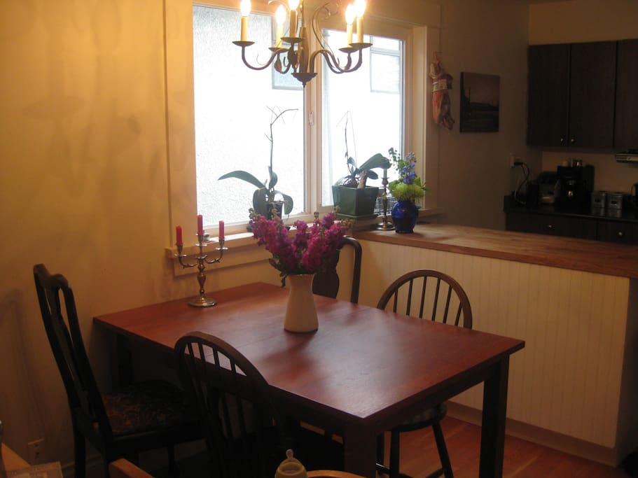 Dining room (table seats 5 as is and can be expanded)