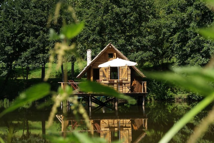 Charming cabin on water - Burgundy - Saint-Didier-sur-Arroux - Cabin
