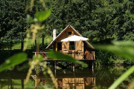 Charming cabin on water - Burgundy - Saint-Didier-sur-Arroux - Бунгало