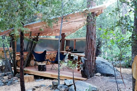 Camp Owl Pine: Vintage Trailer Vibes+Nature+Creek