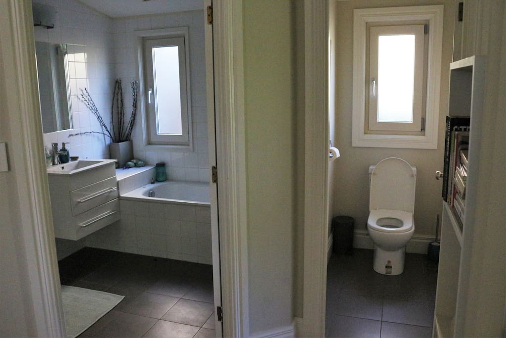 Your private bathroom and toilet
