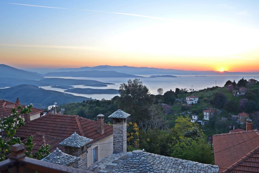 Η θέα από το μπαλκόνι μας - The view from the balcony
