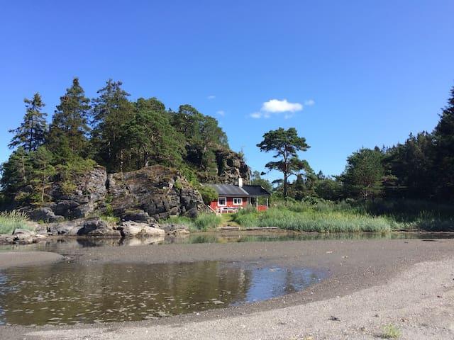 Fantastic little beach cottage - Stjørdal - Kabin