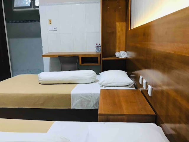Two Bed Room, own Restroom, TV, WiFi, Worktable, Chair