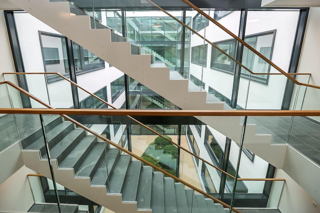 Stairway with few of interior atrium