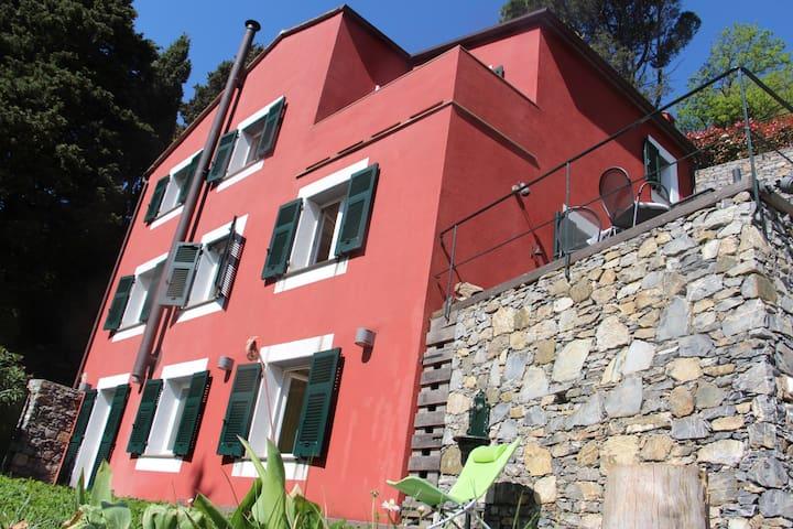 Red Fish House - Castiglione chiavarese - Huis