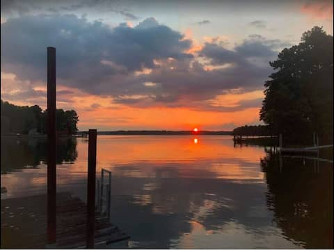 View of sunset from the dock