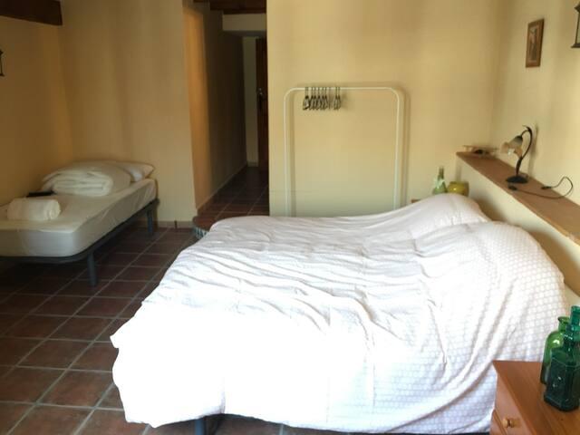 Driepersoonskamer met eigen badkamer (Hannes)